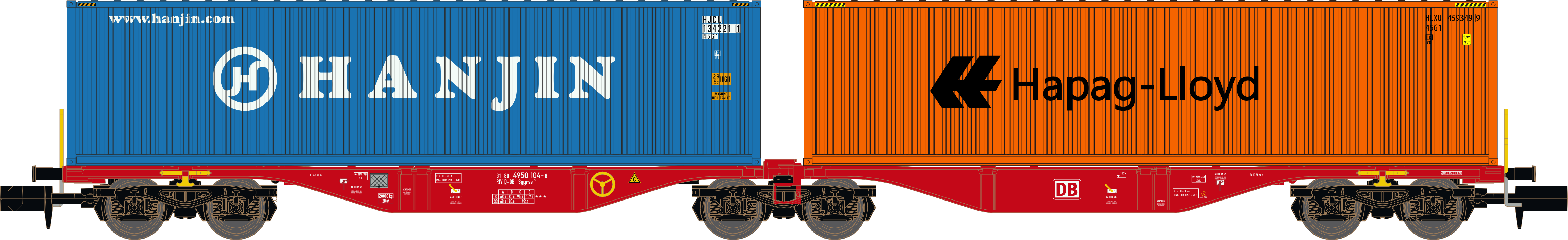 porte container double